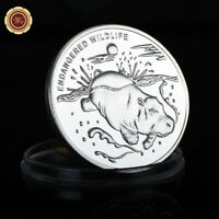 WR Congo 10 Franc Hippo Silver Animal Arts Coin Endangered Wildlife Colletibles
