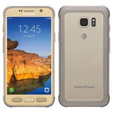 Samsung Galaxy S7 Active SM-G891A 32 Go Désimlocké Doré Téléphone 9/10 Fair
