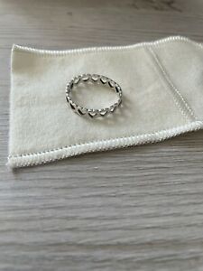 JAMES AVERY STERLING SMALL OPEN HEART BAND RING- SIZE 10
