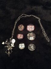 Walking Dead necklace and badges