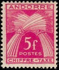 """ANDORRA FRANZÖSISCH BRIEFMARKE STEUER Nr. 29 """" CHIFFRE-TAXE 5F """" NEU x TB"""
