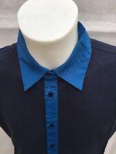 GF Ferre talian men's Polo Shirt navy blue/ blue XL