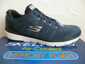 Skechers Lace Up Sneakers Running Shoes Trainers Low Shoes Blue New
