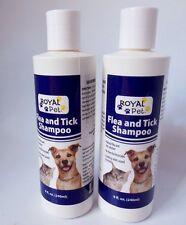 (2)Royal Pet Flea & Tick Shampoo Natural Solution No Pesticides 8 Fl Oz Dog Cat