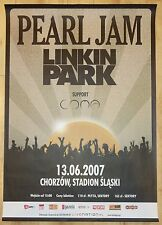 2007 Pearl Jam & Linkin Park - Katowice Promo Concert Poster