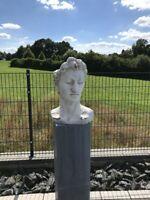 Pflanzkopf Blumentopf Büste Aris Terrasse Balkon Gartendeko Skulptur Statue