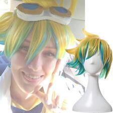 LOL EZ Ezreal Star Guardians Cosplay Wig Short Mixed Color Ombre Golden Green