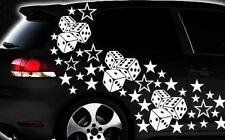 93-teiliges Sterne Würfel Cube Star Auto Aufkleber Tuning WANDTATTOO Blumen xxx