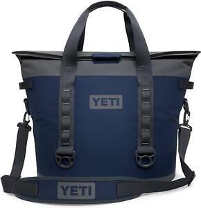 YETI Hopper M30 Soft Cooler Bag Navy & Grey Leak Proof Liner ColdCell Insulation