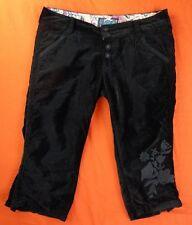 PEPE JEANS Pantacourt/Bermuda Femme Taille 29 US - Modèle Bolane - Noir velours