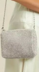 Forever New Diamante Chainmail Crossbody Bag With Chain Strap BNWT