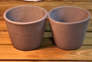 Ceramic Pot - Dusky Purple - SET OF TWO