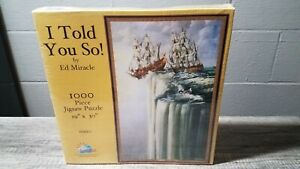"""NEW RARE- I TOLD YOU SO! ED MIRACLE 1000pc 19""""X30"""" JIGSAW PUZZLE SUNSOUT #19920!"""