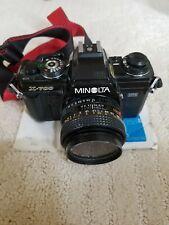 Minolta X-700 35mm Film Camera with Flash, Strap, 50mm Lens Extras Film, Filter