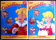 C3)LOT de 2 DVD CAROLINE et ses amis - N°1 & 2 - 10 Episodes -  NEUF