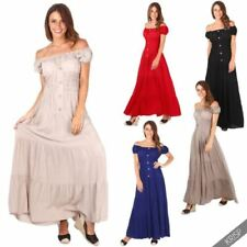 Short Sleeve Long Dresses for Women with Embroidered