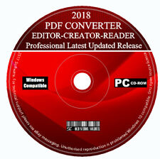2018 Pro PDF Creator Editor Reader Viewer Converter For Microsoft Windows 7 8 10