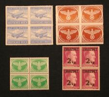 D. Reich, WW2, Adolf Hitler Germany, Military Air Post, Parcel, Feldpost stamps