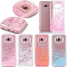 For Samsung Galaxy S7 S8 Glitter Bling Hearts Liquid Quicksand Phone Case Cover