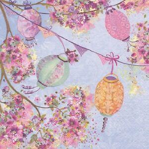 Colourful Lanterns 33cm Paper Party Napkins Serviettes 1-120pk | Flowers