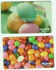 Walmart Gift Card LOT of 2 Easter - Colored Eggs & Jelly Beans - No Value