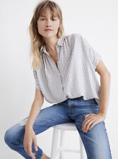 Madewell Central Shirt In Dalton Stripe (K7655) Size Small, NWT