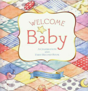 Welcome Baby First Record Book Hardcover + Nursery Rhymes Keepsake Shower Gift