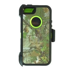 Green Tree For iPhone 5/ 5s / SE Defender Case w/Belt Clip fits Otterbox