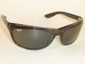 Ray Ban Sunglasses BALORAMA  Striped Grey Frame RB 4089 6430/B1 Dark Grey Lenses