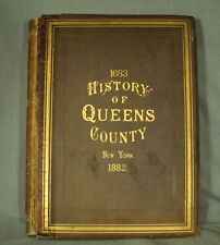 big old antique book 1683 History of Queens County New York 1882
