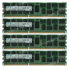 Samsung 64GB 4X16GB PC3-14900R DDR3-1866MHZ 240Pin ECC REG Server Memory Ram