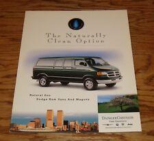 Original 2000 Dodge Ram Van & Wagon Natural Gas Foldout Sales Brochure 00