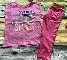 Gymboree Gymgo 10 12 Best Shot Ball Top Floral Leggings NWT Active Wear