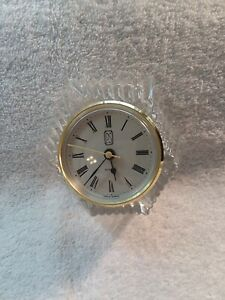 Vintage Anna Hutte Lead Crystal Clock- Germany
