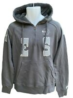 NEW Nike Sportswear NSW AW77 ATHLETICS WEST Fleece Lined Cotton Hoodie Grey M