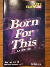 Born For This playbill type program musical Boston June/July 2018 Winans Family