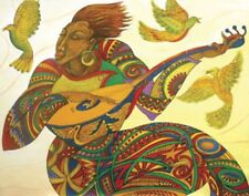 Music Maker 3 Giclee Edition 100 Ethnic Artwork Expressionism 2000-Now by Bibbs