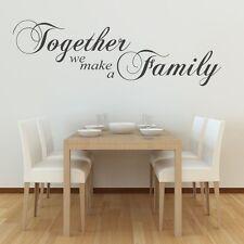 Insieme formiamo un'arte di Famiglia Muro Citazione Adesivo Soggiorno Arte Vinile Adesivi