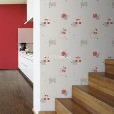 PASTE THE WALL RED GREY CREAM BEIGE TEXTURED WALLPAPER A.S.CREATION 94279-2