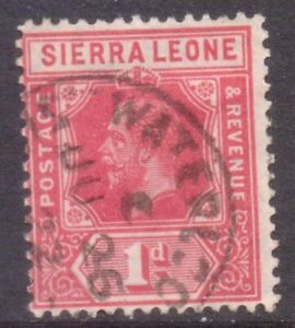 "SIERRA LEONE  POSTMARK / CANCEL   ""WATERLOO""   1922"