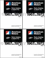 AMC Parts Book Set 1967 1968 1969 1970 1971 1972 AMX Javelin Rambler Ambassador