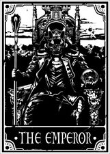 More details for deadly tarot poster - the emperor 32x44cm