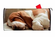 Basset Hound Dog Magnetic Vinyl Mailbox Cover Made In Usa