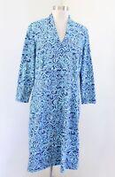 J McLaughlin Blue Geometric Print Catalina Cloth Nylon Shift Dress Size XL