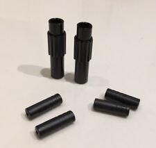 Mini Inline Gear Cable Micro Barrel Adjusters x2- Black 4mm / 5mm All Bike Types