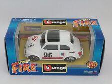 [PH3-11] BBURAGO BURAGO 1/43 STREET FIRE FIAT ABARTH 500 SPORT BIANCA N.95 ELF
