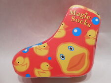 Shrink Wrapped Fun Rubber Ducky Patterned Magic Tube Socks - Just Add Water!
