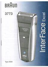 Bedienungsanleitung für Braun Rasierer Model 3773