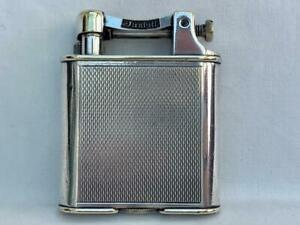 Dunhill 1930's Silver Plated Lift Arm Pocket Lighter.
