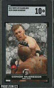 """2013 Topps UFC Bloodlines #139 Conor McGregor RC Rookie SGC 10 """" PACK FRESH """""""